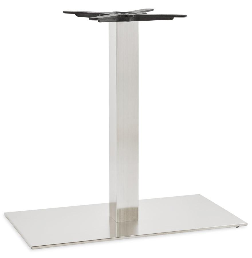 tafelvoet karo xl 75 in geborsteld staal alterego design. Black Bedroom Furniture Sets. Home Design Ideas