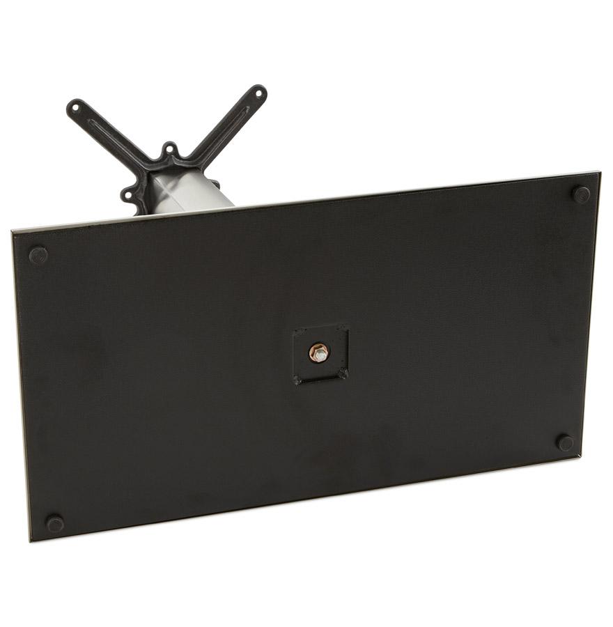tafelvoet karo xl 90 in geborsteld staal alterego design. Black Bedroom Furniture Sets. Home Design Ideas