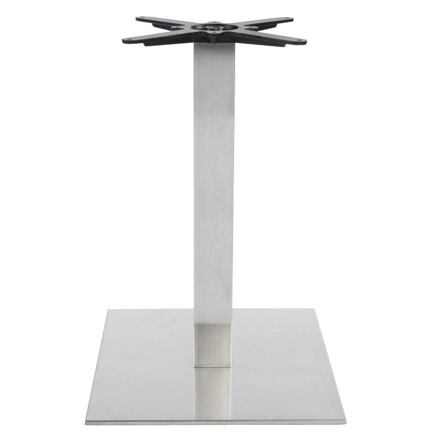 karo 75 brushedsteel newsite 02 - Pied de table ´KARO´ 75 en acier brossé