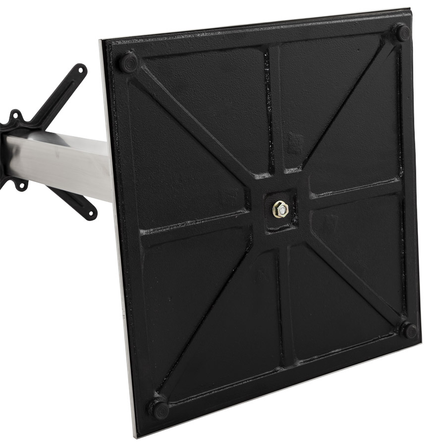 pied de table karo 75 en acier bross alterego design. Black Bedroom Furniture Sets. Home Design Ideas