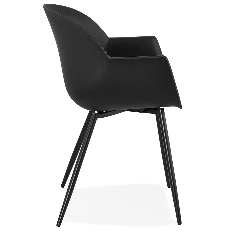 Chaise à accoudoirs ´KELLY´ noire design