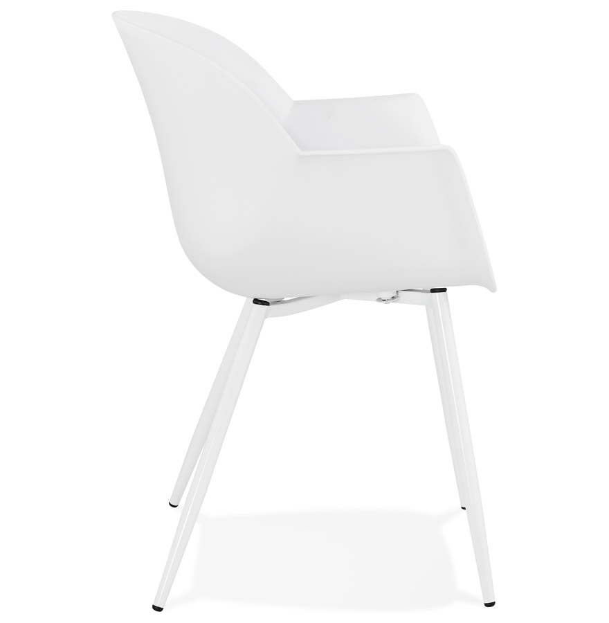 kelly white h2 03 - Chaise à accoudoirs ´KELLY´ blanche design