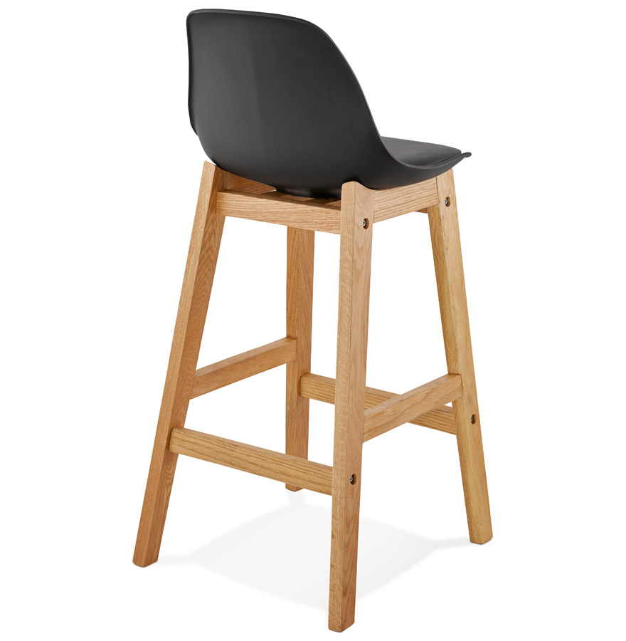 tabouret snack mi hauteur kiko mini noir style scandinave. Black Bedroom Furniture Sets. Home Design Ideas