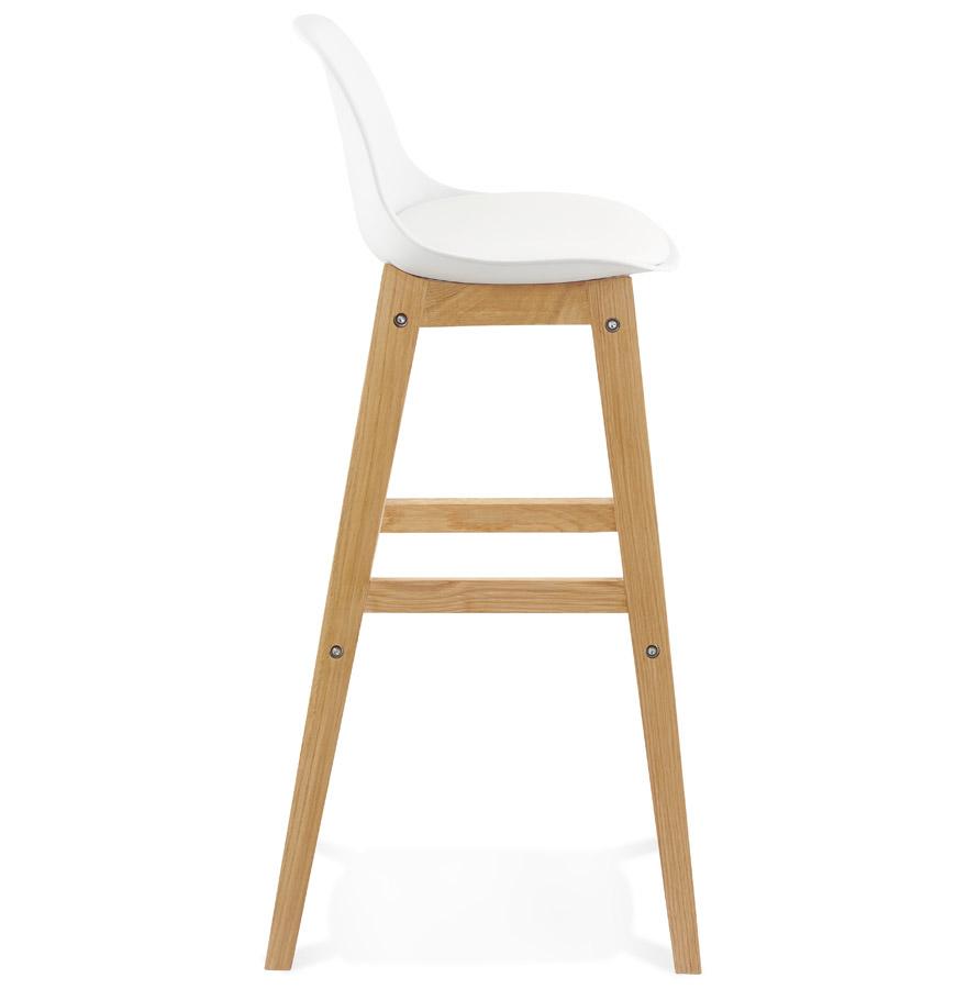 Tabouret de bar ´KIKO´ blanc style scandinave