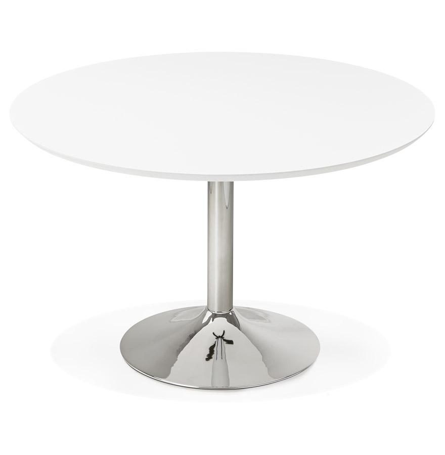 Table à diner/de bureau ronde ´KITCHEN´ en bois blanc - Ø 120 cm