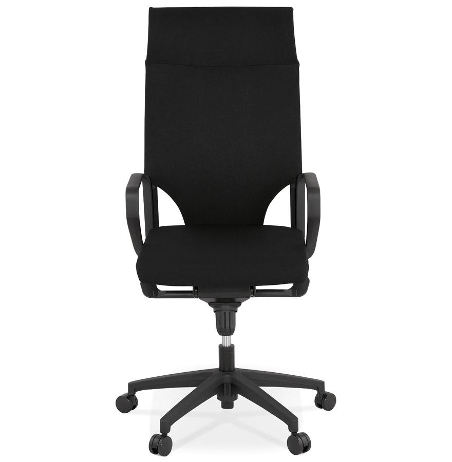 Fauteuil de bureau design ´KIWI HIGH´ en tissu noir