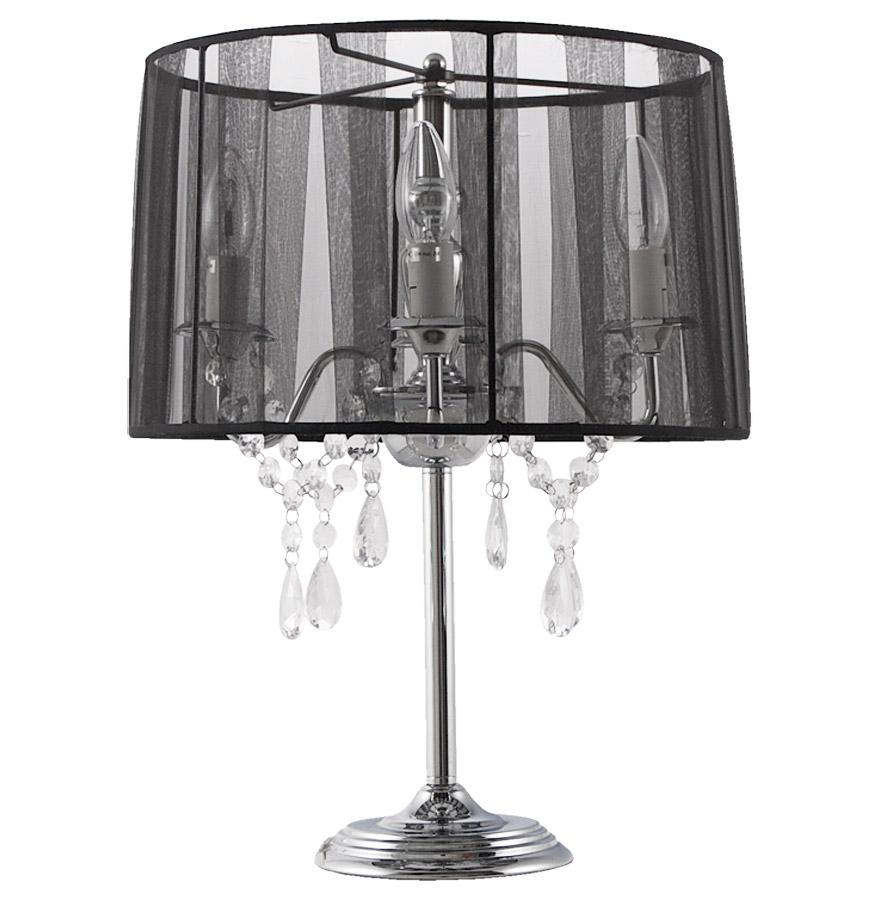 lampe de chevet klassik noire baroque pampilles lampe. Black Bedroom Furniture Sets. Home Design Ideas