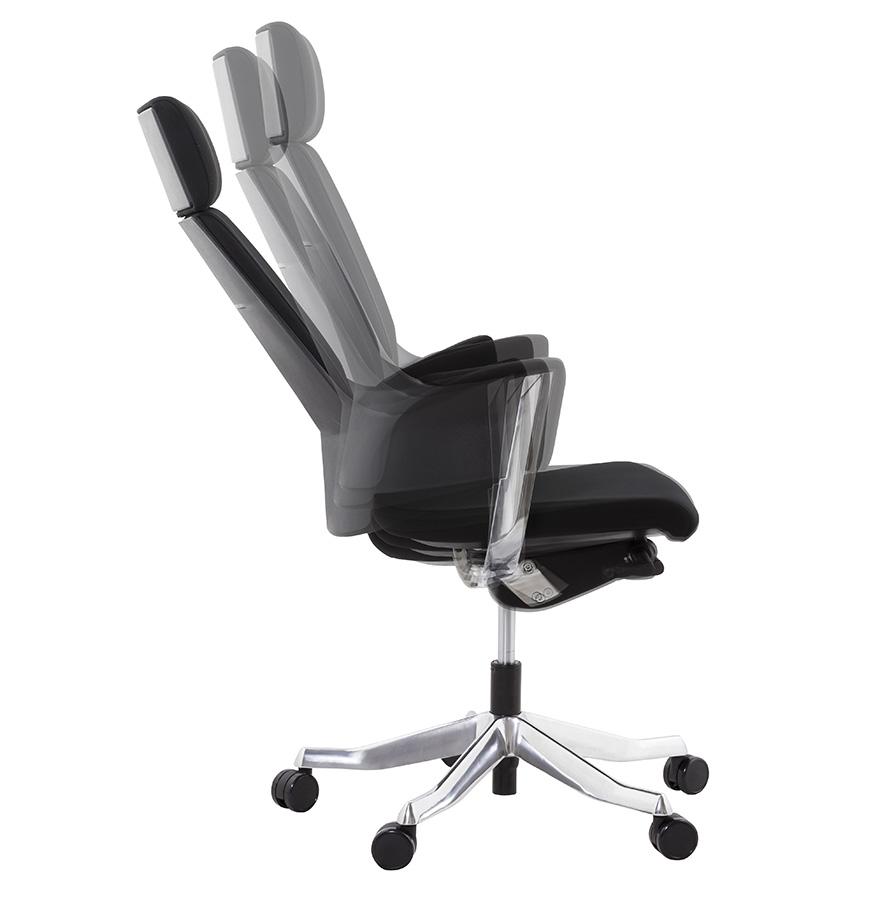 klub black psd h2 03b - Fauteuil de bureau ergonomique ´KLUB´ en tissu noir