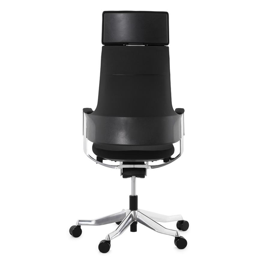 fauteuil de bureau ergonomique klub design en tissu noir. Black Bedroom Furniture Sets. Home Design Ideas