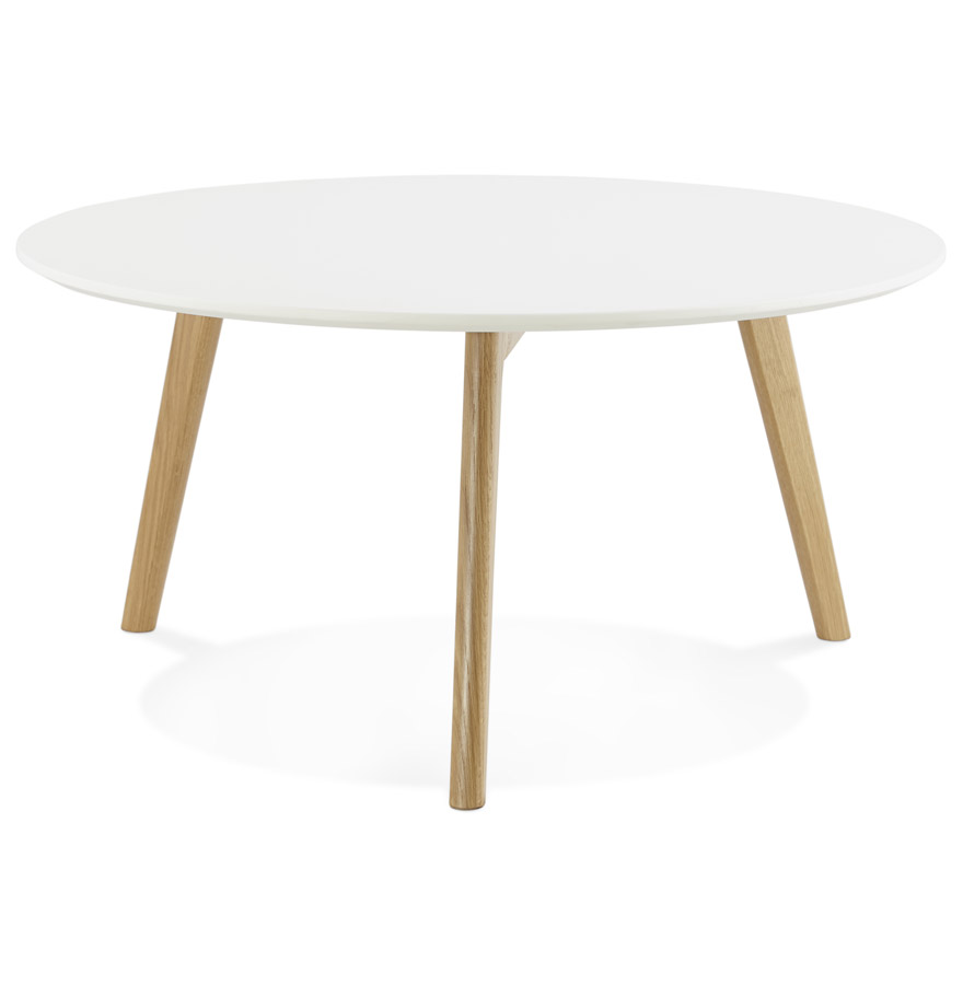 Table basse de salon ronde kofy style scandinave for Table basse style suedois
