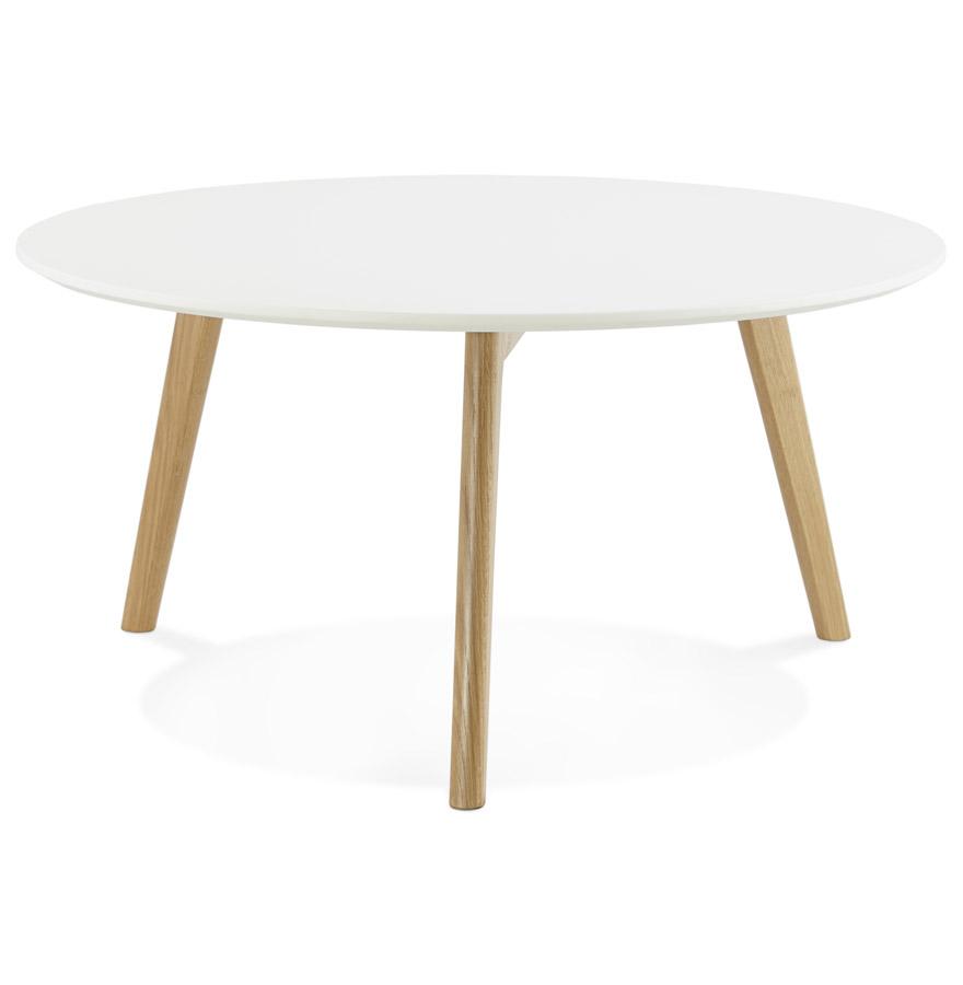 Table basse de salon ronde kofy style scandinave for Table basse design nordique