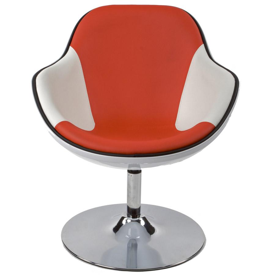 Pivotant Design Retro Rouge ´kok´ Blanc Et Fauteuil Style j4L3RqA5