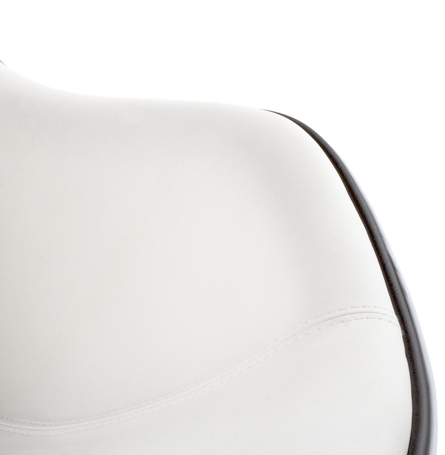 Fauteuil design ´KOK´ pivotant blanc style retro