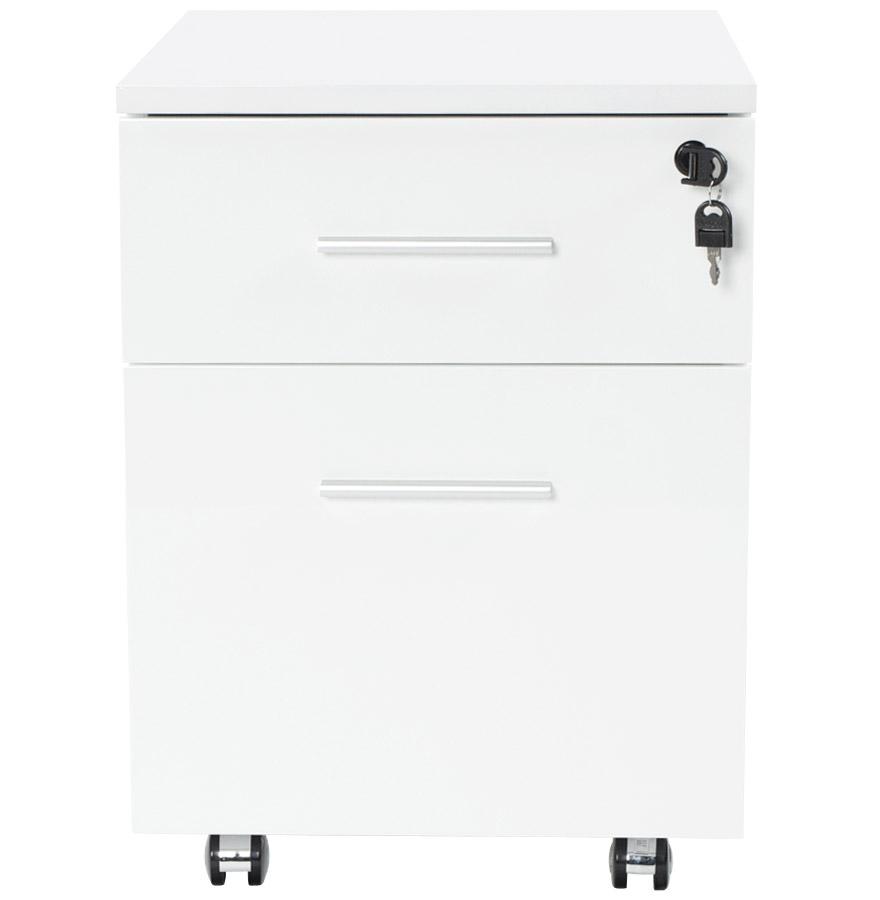 Caisson de bureau ´KOLA´ blanc à tiroirs sur roulettes