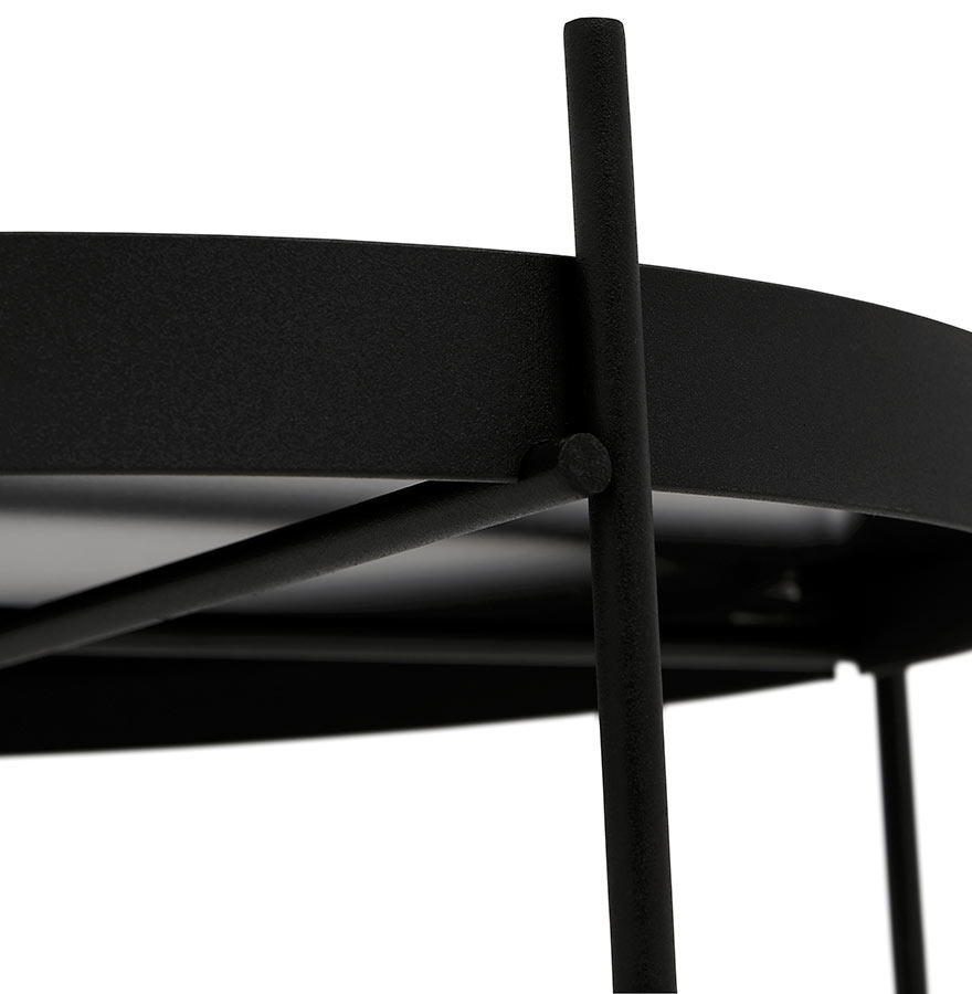 table d 39 appoint pliable kolos noire table design. Black Bedroom Furniture Sets. Home Design Ideas