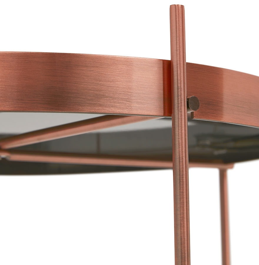 koperkleurige opklapbare bijzettafel kolos designtafel. Black Bedroom Furniture Sets. Home Design Ideas