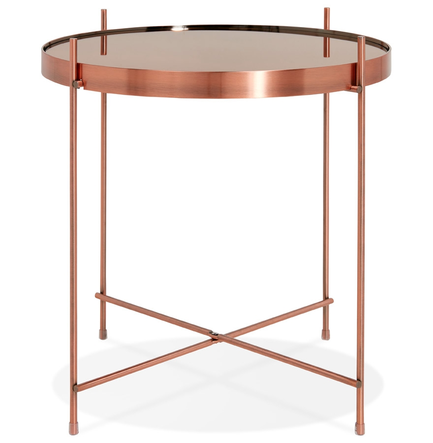 kolos copper h1 02 - Table d´appoint pliable ´KOLOS´ couleur cuivre