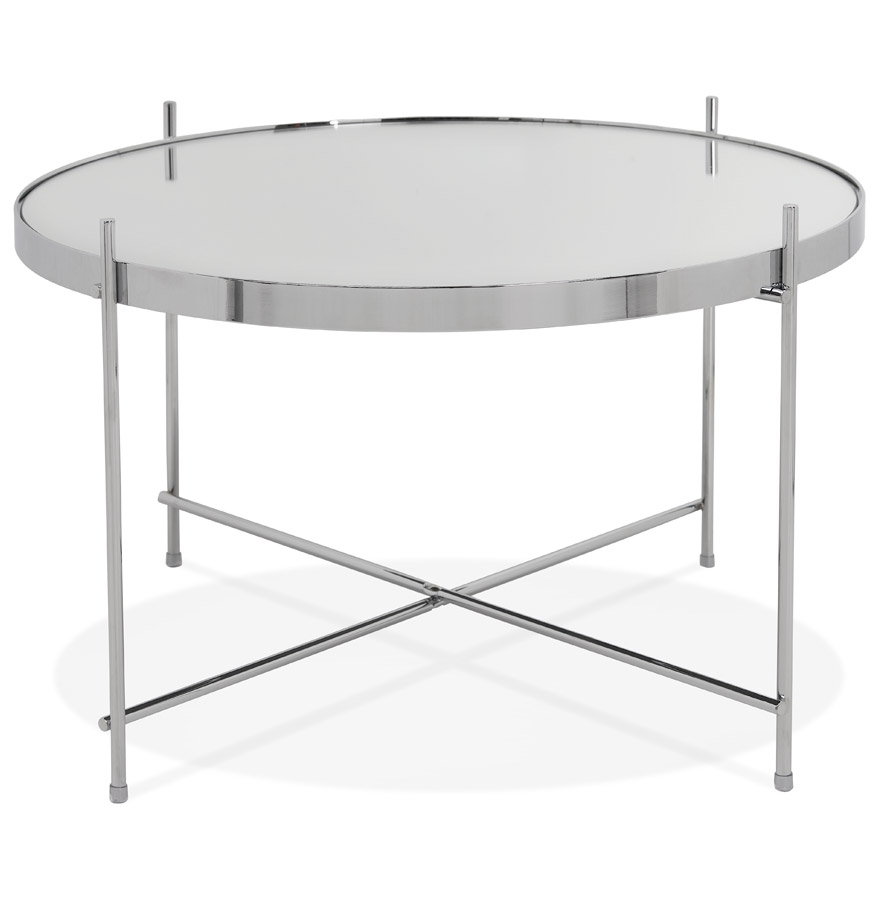 Table basse ´KOLOS MEDIUM´ couleur chrome