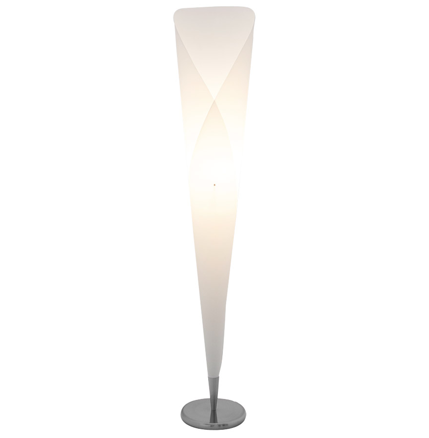 Lampadaire design ´KONE´ en forme de cône blanc