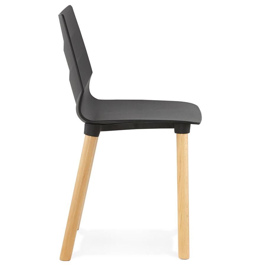 chaise scandinave korida noire chaise design. Black Bedroom Furniture Sets. Home Design Ideas