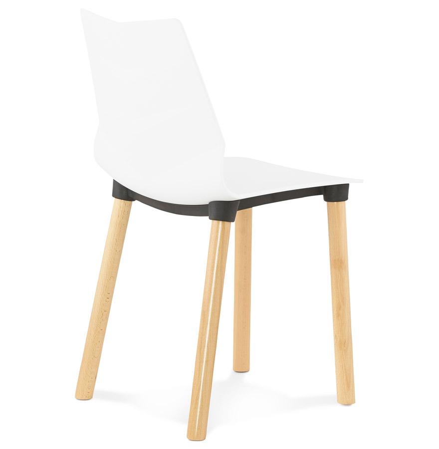 Chaise scandinave korida blanche chaise design for Chaise scandinave blanche