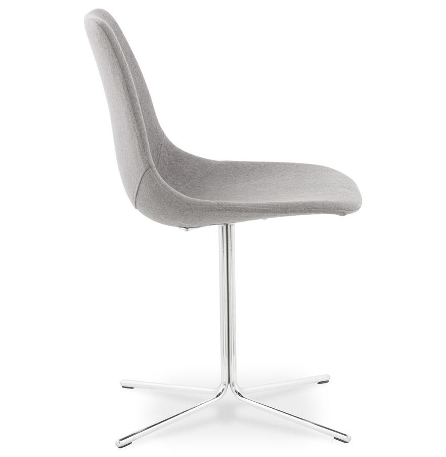 Chaise moderne ´KROSS´ en tissu gris