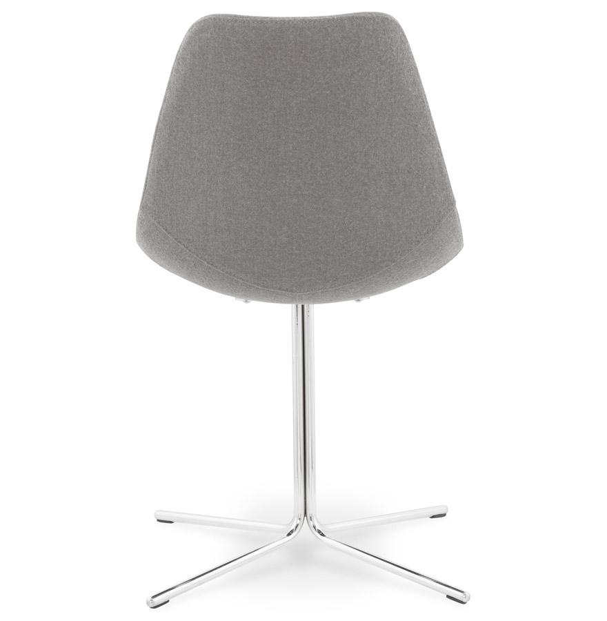 moderne stoel kross in grijze stof alterego design. Black Bedroom Furniture Sets. Home Design Ideas