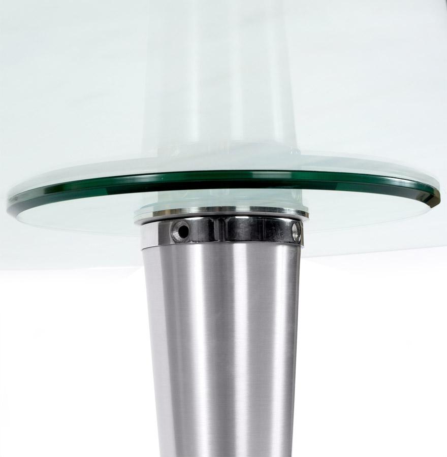 ovalen tafel krystal uit doorzichtig gehard glas 160x108 cm. Black Bedroom Furniture Sets. Home Design Ideas
