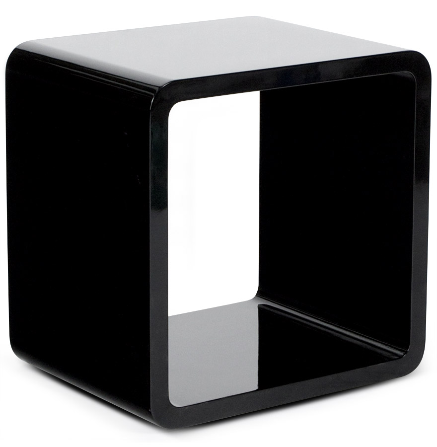 cube de rangement kubic noir empilable meuble de rangement. Black Bedroom Furniture Sets. Home Design Ideas