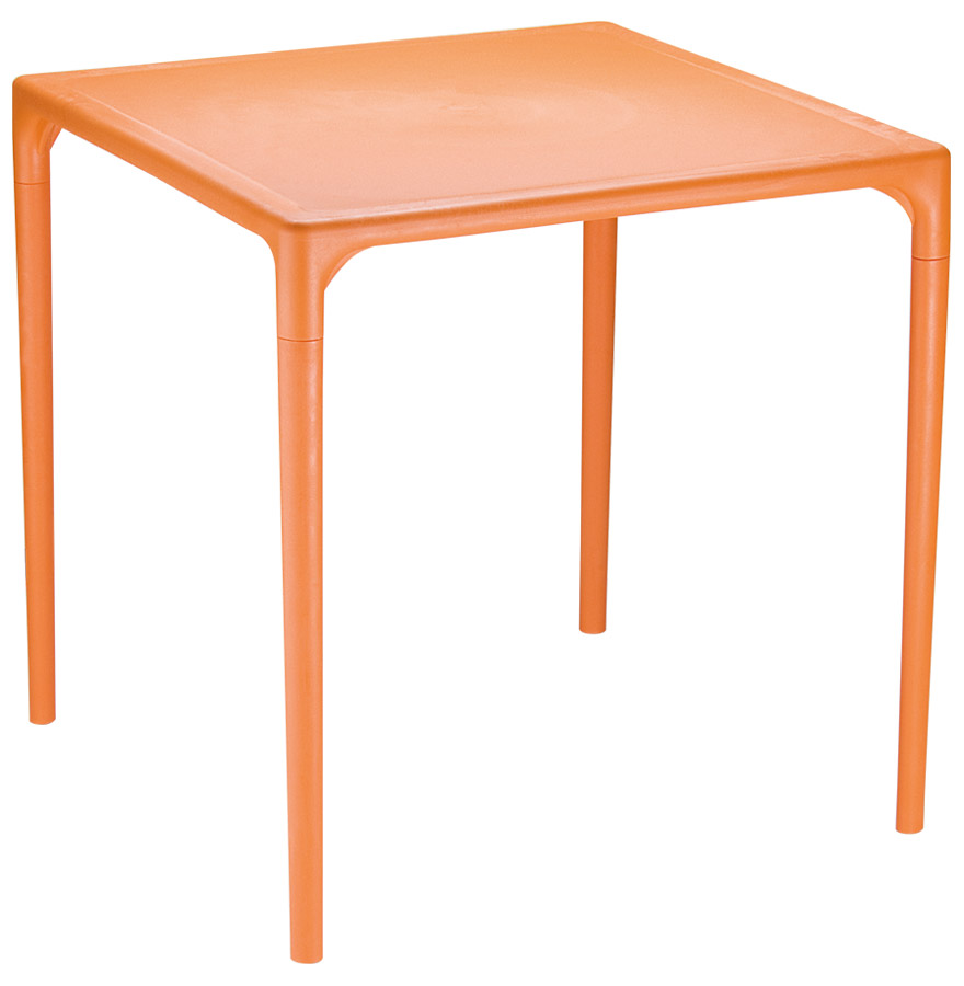 kuik orange 01 - Table à dîner carrée ´KUIK´ design orange - 72x72 cm