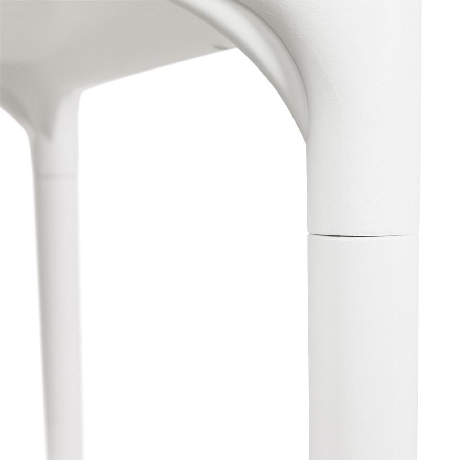 Table à dîner carrée ´KUIK´ design blanche - 72x72 cm