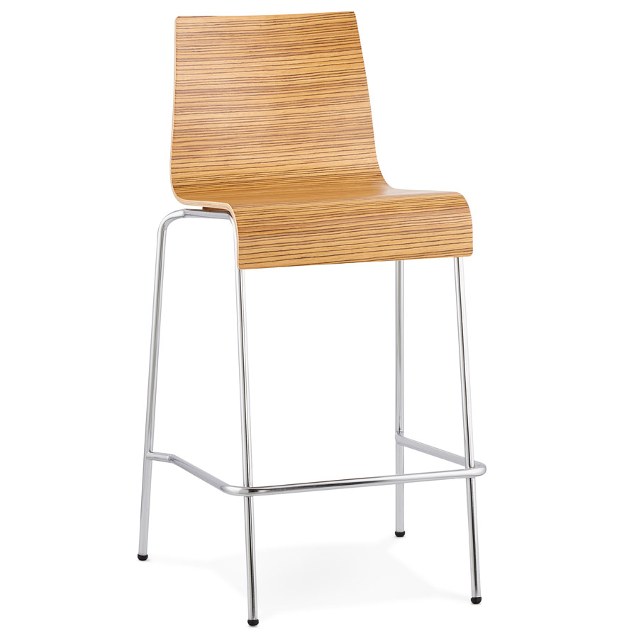 tabouret snack kwatro mini en bois finition zebrano. Black Bedroom Furniture Sets. Home Design Ideas