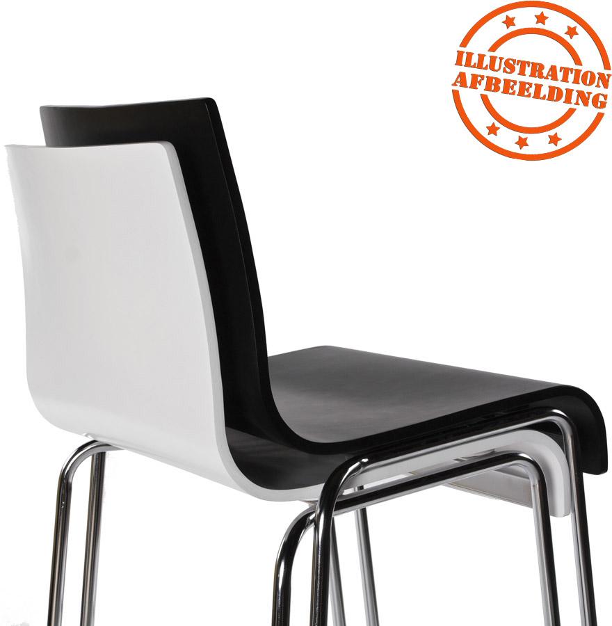 tabouret haut kwatro bois blanc sur 4 pieds tabouret design. Black Bedroom Furniture Sets. Home Design Ideas
