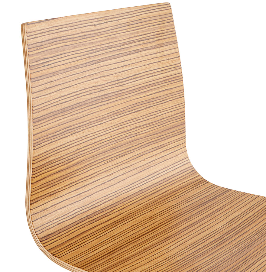 Hoge kruk KWATRO uit zebrano hout op 4 poten - Design barkruk
