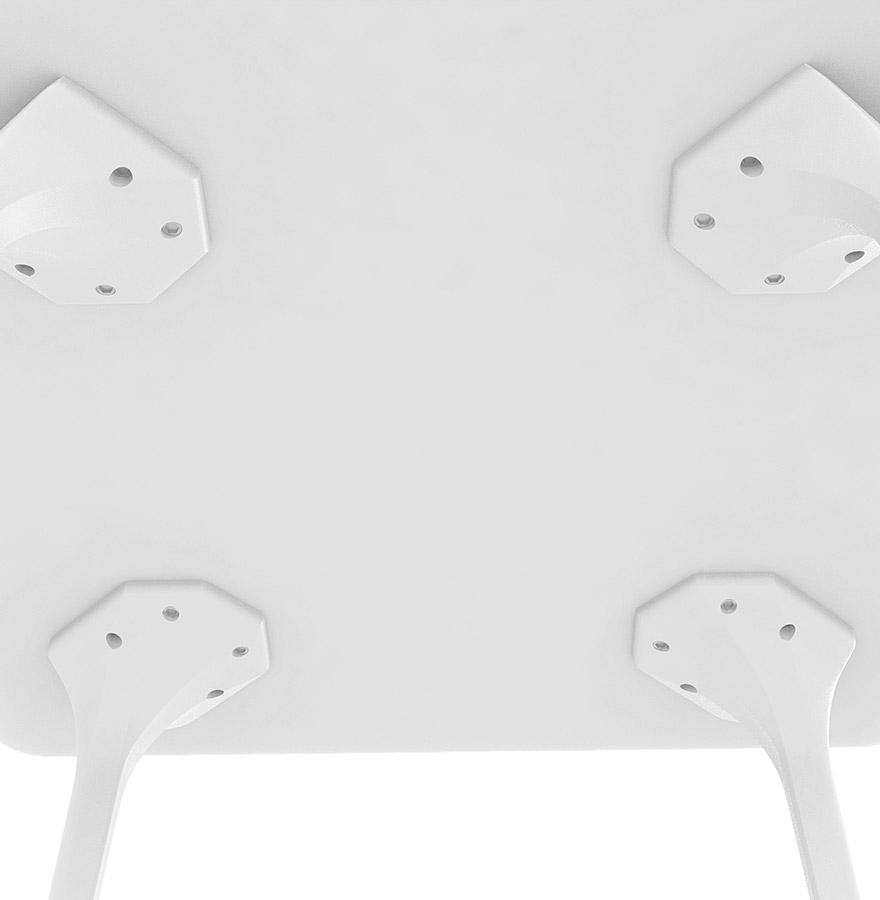 Table de jardin design ´LAGOON´ blanche intérieur / extérieur - 140x80 cm -  Addesign