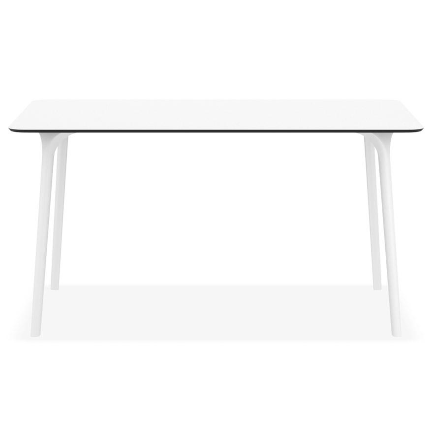 Table de jardin design ´LAGOON´ blanche intérieur / extérieur - 140x80 cm