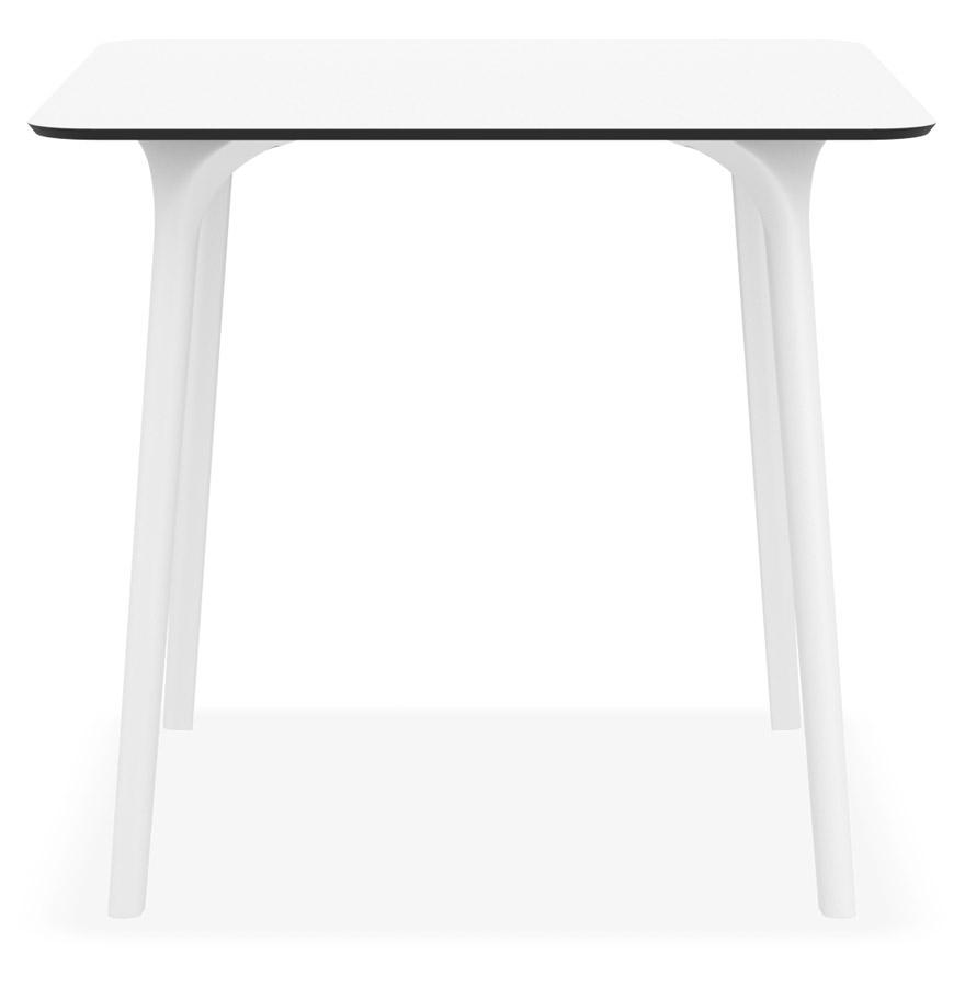 Table de terrasse carrée ´LAGOON´ blanche intérieur / extérieur - 80x80 cm