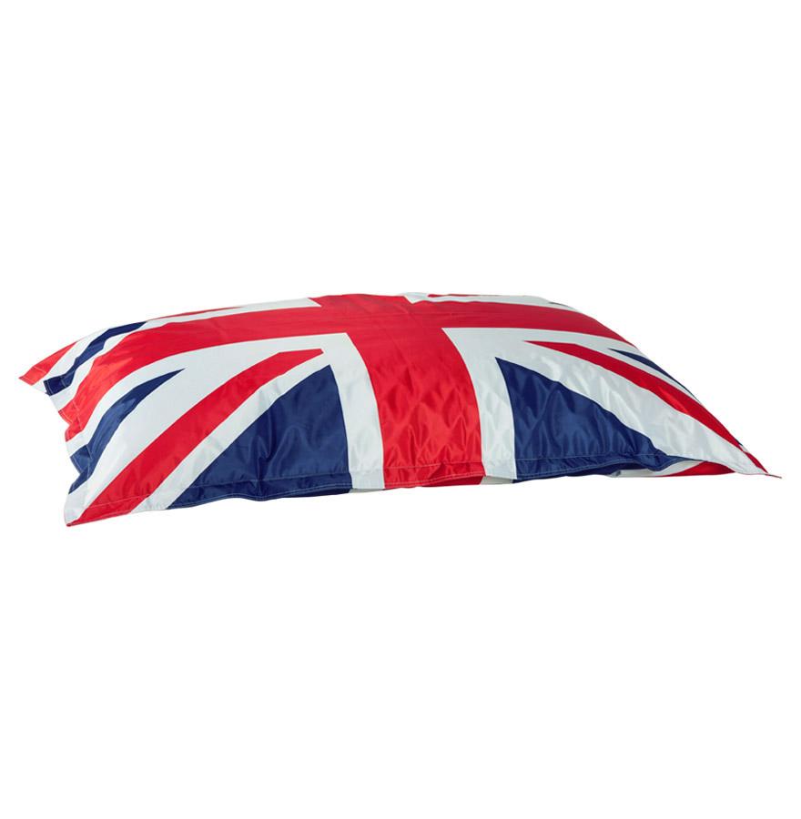 Pouf géant LAZY ROYAL aux couleurs du drapeau anglais