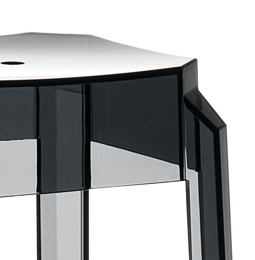 Tabouret de bar ´LENO´ noir transparent en matière plastique