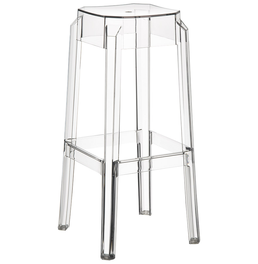 Extrêmement Tabouret de bar LENO transparent - Tabouret design UO57