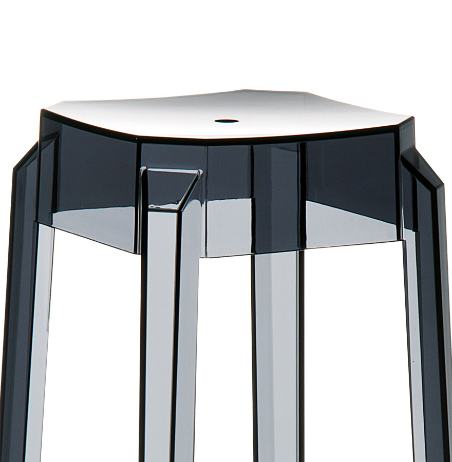 tabouret design leno mini tabouret de cuisine noir transparent. Black Bedroom Furniture Sets. Home Design Ideas