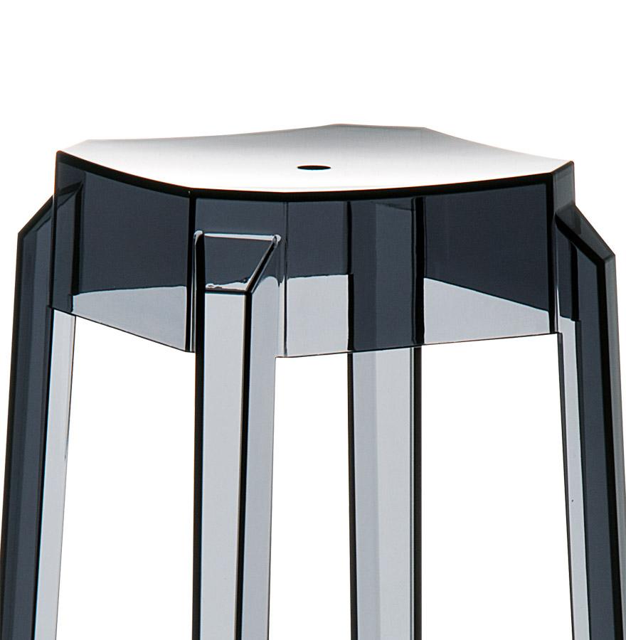 tabouret design leno mini tabouret de cuisine noir transparent. Black Bedroom Furniture Sets. Home Design Ideas
