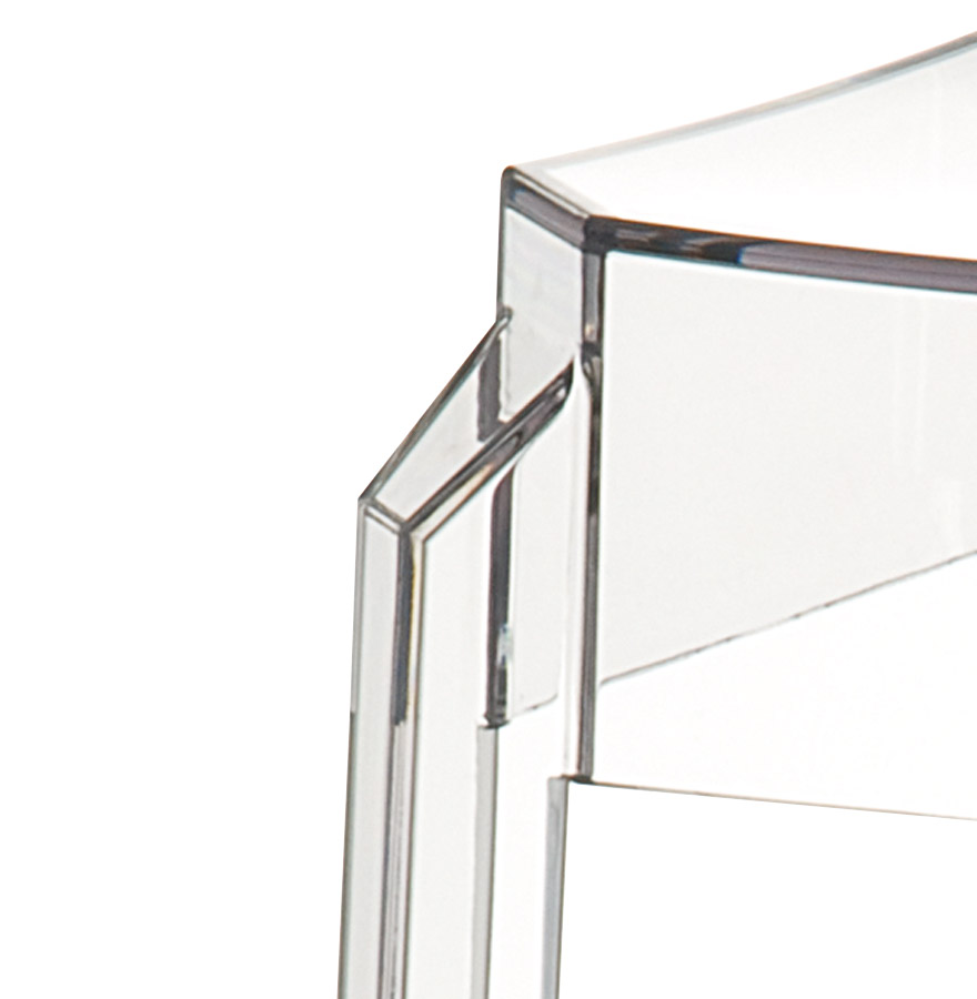 Tabouret snack mi-hauteur ´LENO MINI´ transparent en matière plastique