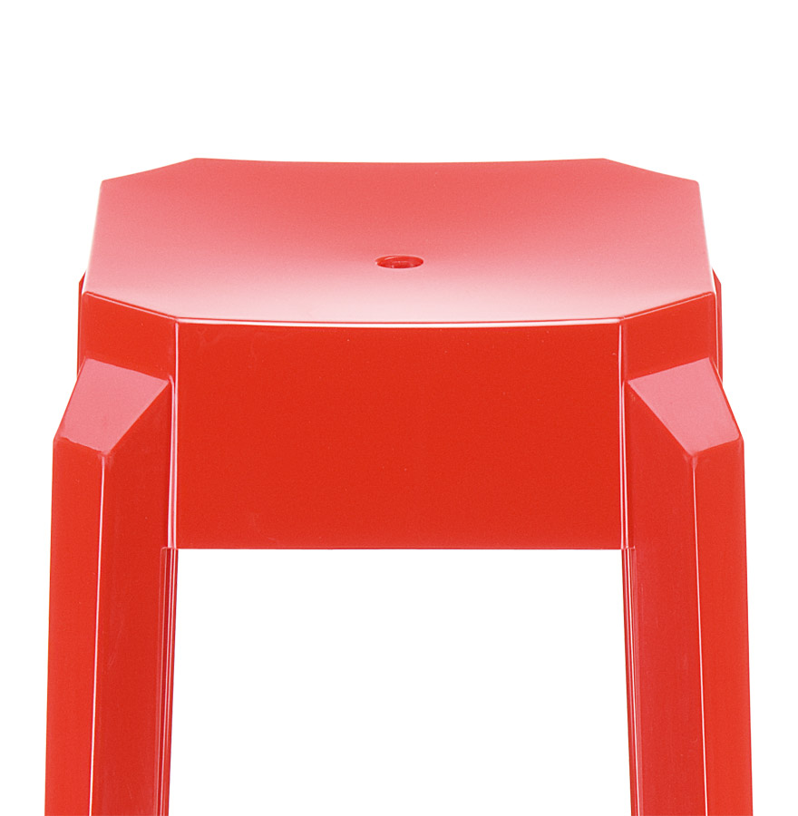 tabouret design leno tabouret de bar en mati re plastique rouge. Black Bedroom Furniture Sets. Home Design Ideas