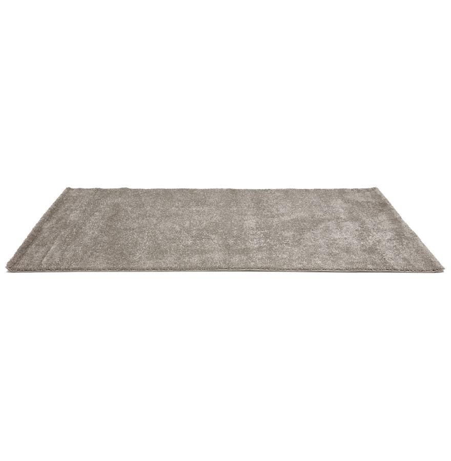 Tapis design ´LILOU´ 160x230 cm à poils longs gris très doux