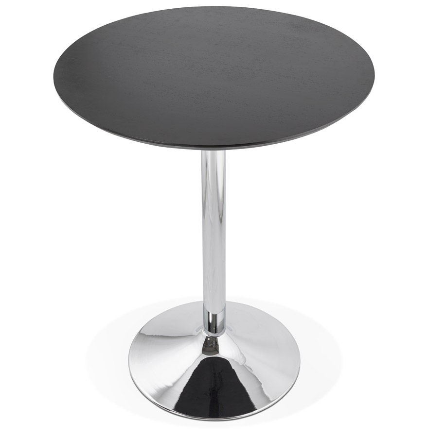 lima black h3 01 - Mange-debout / table haute ´LIMA´ noire - Ø 90 cm