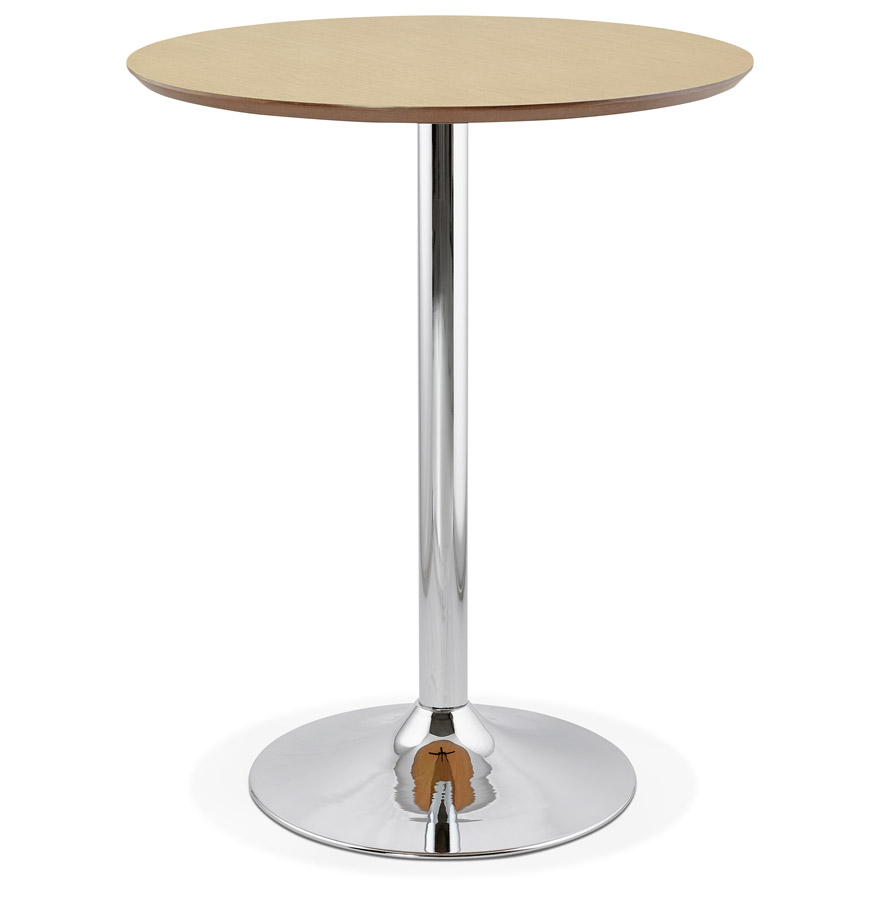 Mange-debout / table haute ´LIMA´ en bois finition naturelle - Ø 90 cm
