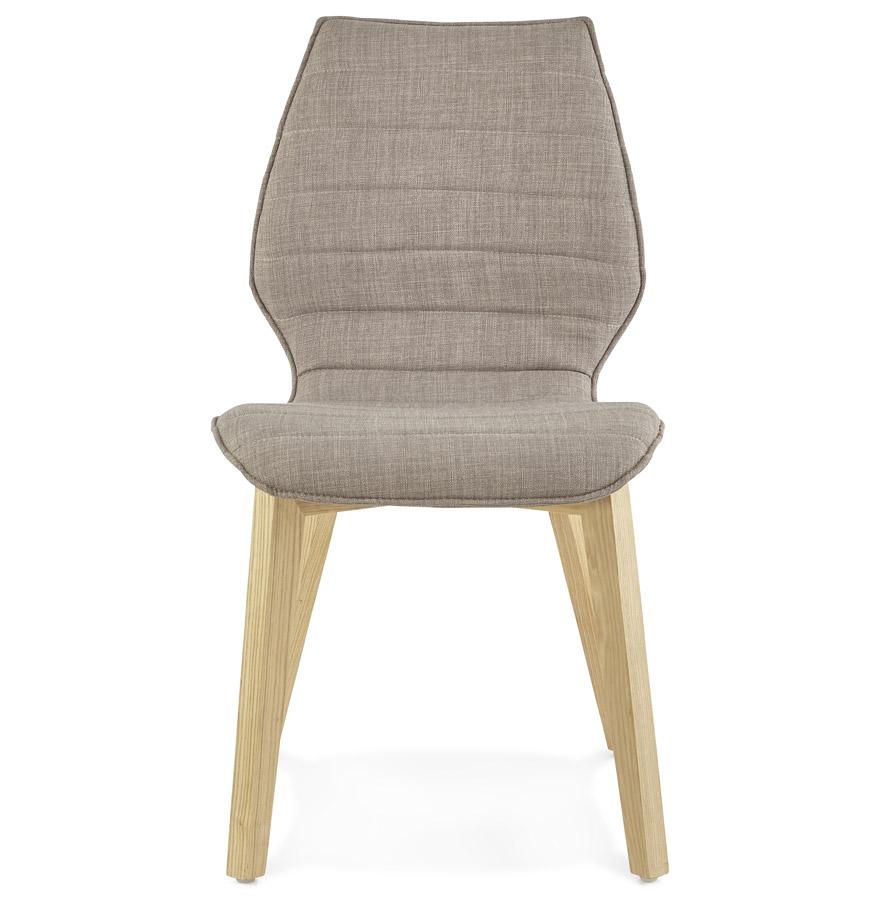 linda grey psd h2 02 - Chaise design ´LINDA´ en tissu style scandinave