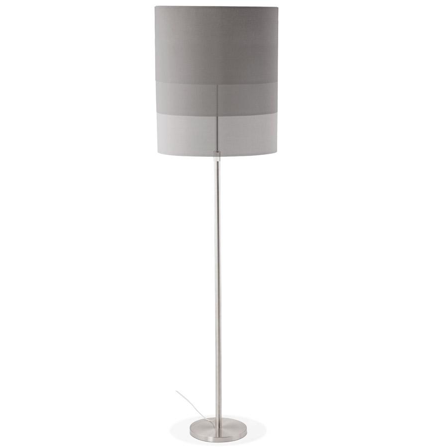 Lampadaire design ´LIVING BIG´ gris réglable en hauteur