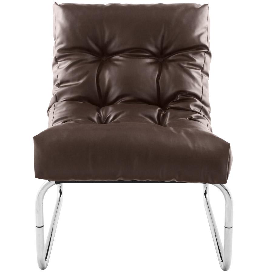 fauteuil lounge loft brun fauteuil bas de salon. Black Bedroom Furniture Sets. Home Design Ideas